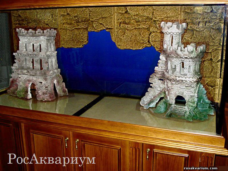 Как своими руками сделать замок в аквариуме 73